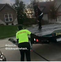 Memes, Wshh, and Nick: 384  31  @danrue  @nicknpattiwhack But why they try to tow Nick and Dan's car though?! 😳😩😂 @Nicknpattiwhack_ @Danrue WSHH