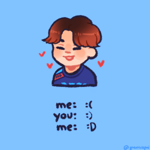 Tumblr, Blog, and Http: 388  me: :  You: )  me: D younggenji:  have a /dashing/ valentines! 💙❤️