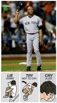 Admit it, you got a little bit emotional Tuesday night too. (Barney Melville): MLBMEME  LIE  DOWN  NEW YORH  TRY  NOT TO CRY  CRY  A LOT Admit it, you got a little bit emotional Tuesday night too. (Barney Melville)