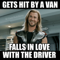 😂😂🔥 -Deadpool Thor thormemes avengers avengersmemes comicbookmemes: GETS HIT BY AVAN  Book Memes  IG Comic  FALLS IN LOVE  WITH THE DRIVER 😂😂🔥 -Deadpool Thor thormemes avengers avengersmemes comicbookmemes