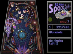 Throwback to this beast of a game that took up all my free time in school.: 3D Pinball  . BALL 2  1 1217250  Wormhole  Re-Entries  Left: 2  0 Throwback to this beast of a game that took up all my free time in school.