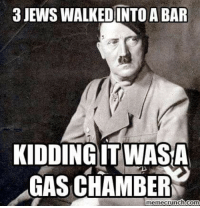 Honestly, whats the issue with this photo?: 3JEWSWALKEDINTO A BAR  KIDDING IT WASA  GAS CHAMBER  memecrunch com Honestly, whats the issue with this photo?