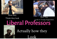 Fuck, Trump, and How: 3P  How they  Think they look  How They  Look to Trump Supporters  Liberal Professors  Actually how they  Look
