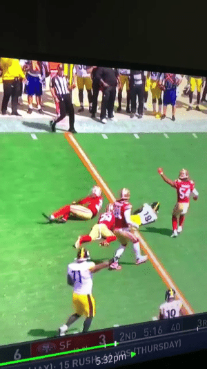 Pretty much sums up officiating in the NFL  https://t.co/aM540HQFXx: 3R  3 .2ND 5:16 40  SF  6  NY15 RUSH5:32pmTHURSDAY) Pretty much sums up officiating in the NFL  https://t.co/aM540HQFXx