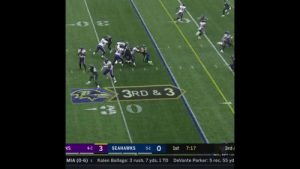 How does Lamar Jackson do this?   Defenders don't know, either. 🤷‍♂️  @lj_era8  @Ravens | #RavensFlock https://t.co/60EHIzcCgK: 3RD & 3  3  0  NS  SEAHAWKS  1st  7:17  3rd  4-2  5-1  MIA (0-6)  DeVante Parker: 5 rec, 55 yd  Kalen Ballage: 3 rush, 7 yds, 1 TD How does Lamar Jackson do this?   Defenders don't know, either. 🤷‍♂️  @lj_era8  @Ravens | #RavensFlock https://t.co/60EHIzcCgK