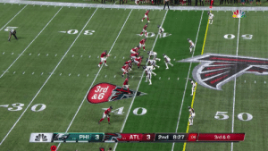 JULIO!  A leaping sideline grab for 27 yards ✈️ #InBrotherhood  📺: #PHIvsATL on NBC 📱: NFL app // Yahoo Sports app Watch on mobile: https://t.co/Pa6E6lQGVa https://t.co/zh8KP9FF5d: 3rd  &6  PHI 3  ATL 3  2nd 8:27  3rd & 6  :06  1-0  0-1 JULIO!  A leaping sideline grab for 27 yards ✈️ #InBrotherhood  📺: #PHIvsATL on NBC 📱: NFL app // Yahoo Sports app Watch on mobile: https://t.co/Pa6E6lQGVa https://t.co/zh8KP9FF5d