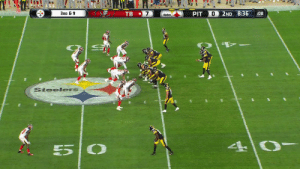 Black and yellow blur.  36-yard scramble by @Josh_dobbs1 💨 #TBvsPIT  📺: @nflnetwork Watch on the NFL app: https://t.co/PUjPEgbtkN https://t.co/i0kGF3Zhbi: 3RD & 9  7  PIT  0  2ND 8:36  TB  :08  Steelers  Steelers  4 0- Black and yellow blur.  36-yard scramble by @Josh_dobbs1 💨 #TBvsPIT  📺: @nflnetwork Watch on the NFL app: https://t.co/PUjPEgbtkN https://t.co/i0kGF3Zhbi