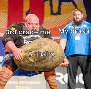 Crush, Record, and Mold: 3rd grade me  RECORD BREA  RC  My crush  5 chairs  R  mold Strengma  Clessle