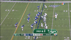 Darnold stepping up early 🎯 #NYJvsNYG  📺: @nflnetwork Watch on mobile: https://t.co/tOvsgatvUX https://t.co/ylZHOmH9JZ: 3RD &  NEW YOORK  STS  NYJ O Ny NYG O  1st 14:24 06  3rd & 6 Darnold stepping up early 🎯 #NYJvsNYG  📺: @nflnetwork Watch on mobile: https://t.co/tOvsgatvUX https://t.co/ylZHOmH9JZ
