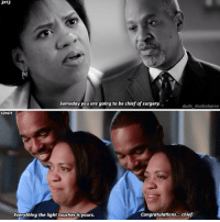 Dude, Memes, and Congratulations: 3X13  Someday you are going to be chief of surgery.  dude itsalexkarev  12X01  Everything the light touches is yours.  Congratulations... chief |3x13-12x01| In Season 3 I loved the idea of Bailey being chief.. but now.. she changed sm😩 . Thanks for the request @fedebolger 😘😘 . . . greysanatomy richardwebber mirandabailey greys12x01 greys3x13 benwarren benley