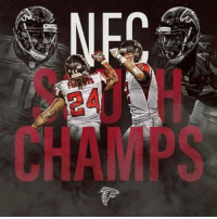 4  夤 Your Atlanta Falcons are NFC South Champions.