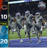 FINAL: @Lions improve to 8-6! #OnePride  #CHIvsDET https://t.co/L4YaXCMaBR: 4-10  NFL  SPECIAL  FULLER  FINAL2  20  8-6 FINAL: @Lions improve to 8-6! #OnePride  #CHIvsDET https://t.co/L4YaXCMaBR