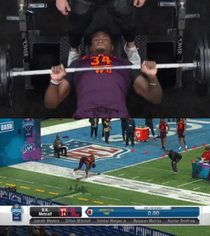 "4.33 40-yard dash.  27 bench press reps (225 pounds).  40.5"" vertical jump.  11'2"" broad jump.   Every scout's face after D.K. Metcalf's workout: 😱 @dkm14   📺: 2020 #NFLCombine starts February 27 on @nflnetwork https://t.co/WEqSONPXJ4: 4.33 40-yard dash.  27 bench press reps (225 pounds).  40.5"" vertical jump.  11'2"" broad jump.   Every scout's face after D.K. Metcalf's workout: 😱 @dkm14   📺: 2020 #NFLCombine starts February 27 on @nflnetwork https://t.co/WEqSONPXJ4"
