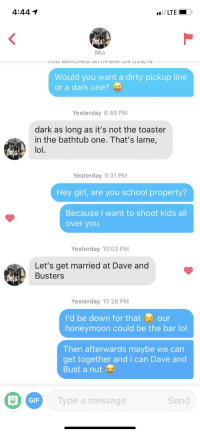 Do Dirty Pick Up Lines Work On Tinder