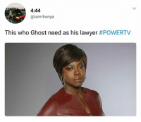 If you know, you know 😂 True or False?: 4:44  @iamrhenya  This who Ghost need as his lawyer If you know, you know 😂 True or False?