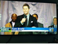 This was just on my local news: 4:56 39  KDKA  Tom Brady  2  Known Cheater  SUPER BOWL  圜@KDKA This was just on my local news