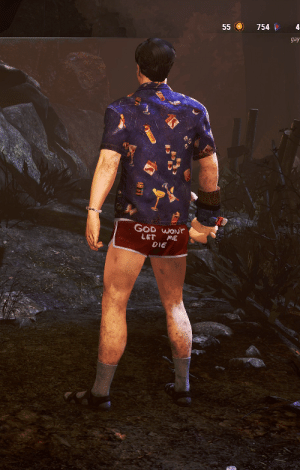 Ash, God, and Idea: 4  754  55  gay  GOD WONT  LET  ME  DIE Ash Williams Cosmetic Idea