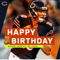 Birthday, Memes, and Happy Birthday: 4 BEARS  HAPPY  BIRTHDAY  MITCHELL TRUBIS KY/ QB / BEARS Join us in wishing @ChicagoBears rookie QB @Mtrubisky10 a HAPPY 23rd Birthday! https://t.co/wcVDLI8B6F