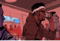 Club, Johnny Manziel, and Life: :4 BRmag takes you inside the bars, clubs and casinos where Johnny Manziel's life spun out of control. [Read the full story in the B-R app - link in bio] [Illustrator @matt.rota]