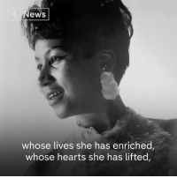 "Memes, Queen, and Hearts: 4  ews  whose lives she has enriched,  whose hearts she has lifted, ""She chills you, heats you, affects your soul. It's exhilarating.""  The Queen of Soul, Aretha Franklin, has died at the age of 76."