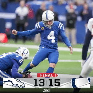 FINAL: @Colts win on an @adamvinatieri game-winner! #DENvsIND #Colts https://t.co/skNAeU6wiw: 4  FINAL  13 15  903 FINAL: @Colts win on an @adamvinatieri game-winner! #DENvsIND #Colts https://t.co/skNAeU6wiw