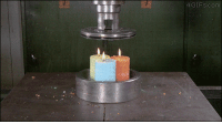 4gifs:Crushing candles with a hydraulic press. [video]: 4 GIFs.com 4gifs:Crushing candles with a hydraulic press. [video]