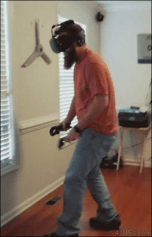 Tumblr, Virtual Reality, and Blog: 4 GIFs.com 4gifs:Virtual Reality got too real. [video]