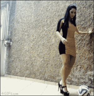 Life, Soccer, and Target: 4 GIFs.com smudgeyfluff:mousathe14:sokkaswift:I have never been so impressed in my LIFEBut.., but…, those are HEELS!  and that super-restricting skirt! 0o0 THIS WOMAN IS MAGIC