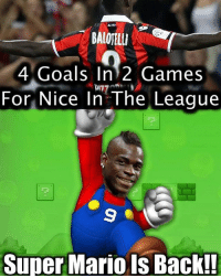 Balotelli ....: 4 Goals In 2 Games  D77  For Nice In The League  Super Mario is Back!! Balotelli ....