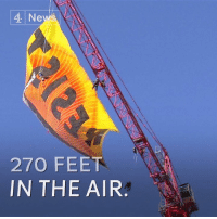 "Memes, 🤖, and Feet: 4 Ne  270 FEET  IN THE AIR Greenpeace protesters hung a banner saying ""Resist"" right next to Donald J. Trump's White House.  Trump has signed executive orders on the Keystone XL and Dakota Access pipelines, which he says will bring tens of thousands of jobs."