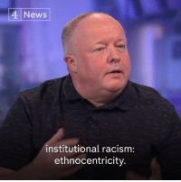 "Facts, Memes, and News: 4 News  0  institutional racism:  ethnocentricity ""Everybody keeps shouting at the police: 'You're racist'... They're not.""  Former Met Police officer Peter Kirkham says stop and search is based on ""objective facts"" not ""on the basis of colour"" - but Labour's Rupa Huq says black males are eight times more likely to face stop and search."