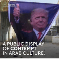 """Memes, Arab, and Contempt: ,4 News  A PUBLICDISPLAY  OF CONTEMPT  IN ARAB CULTURE These Palestinian protesters are throwing shoes to show their disrespect for Donald J. Trump.   The White House says that peace in the Middle East is a """"high priority""""."""