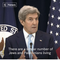 "Jeopardy, Memes, and Barack Obama: 4 News  ED S  There are a ar number of  Jews and Palestinians living ""No American administration has done more for Israel's security than Barack Obama's.""   John Kerry says the US has done more to support Israel than any other country, but Jewish settlement expansion puts the two-state solution in ""serious jeopardy""."
