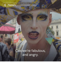 "Memes, News, and Time: 4 News  ST  Cos we're fabulous  and angry. ""Cos we're fabulous and we're angry"".  A group of Drag Queens were some of the first-time protesters joining the women's anti-Trump march."