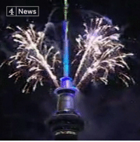 Memes, Fireworks, and New Zealand: 4 News This is the moment New Zealand welcomed in the New Year with a firework display from Auckland's Sky Tower.