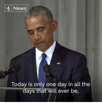 "Memes, News, and Obama: 4 News  Today is only one day in all the  days that will ever be, ""So much of our politics…can seem small, and mean, and petty. Trafficking in bombast, and insult, and phoney controversies, and manufactured outrage.  ""John called on us to be bigger than that.""  Barack Obama pays tribute to John McCain."