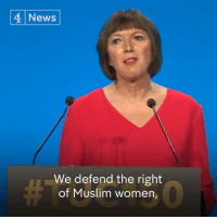 "Memes, Muslim, and News: 4 News  We defend the right  of Muslim women, ""A woman who wears a niqab or a burka is still our sister.""   TUC General Secretary Frances O'Grady criticises Boris Johnson for saying that some veiled Muslim women look like ""letter boxes"" and ""bank robbers""."