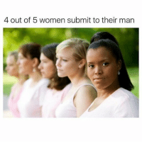 Women: 4 out of 5 women submit to their man