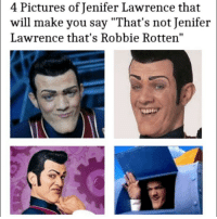 """Memes, 🤖, and Rotten: 4 Pictures of Jenifer Lawrence that  will make you say Lawrence that's Robbie Rotten"""" yes"""