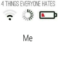 everyone: 4 THINGS EVERYONE HATES  Me