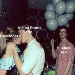 Poor Sublime text users :(: 4  Visual Studio  Code  Developers  Sublime  text Poor Sublime text users :(
