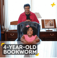 Books, Memes, and Girl: 4-YEAR-OLD  BOOKWORM This 4-year-old girl has probably read more books than you. #DayOfTheGirl
