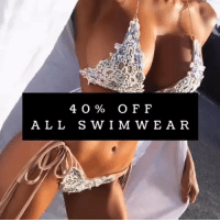 Funny, Code, and Shop: 40% OFF  A LL SWIM WEAR 40% OFF all swimwear from @tropic.mantra Shop now with code: THINK40 ❗️Sale Ends in 24hrs❗️