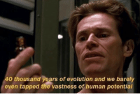 Barely: 40 thousand vears of evolution and we barely  even tapped the vastness of human potential