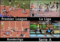 Memes, Premier League, and Apps: 408  Premier League  BNB  Bundesliga  La Liga  Serie A Title race in the top 4 leagues... 🔥 🔺Download The FREE App In Our Bio If You Love Football! ❤️⚽️