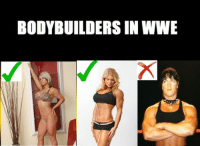 BODYBUILDERS IN WWE MS Paint Skills of the charts