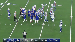 Lmao, the disrespect.. Bills out here doing the Dak dance 😂 https://t.co/UE72ypmRmO: 42  S 48  85  BUF  26  DAL  (6-5)  15 4TH 1:14 40 2ND DOWN  18-31 Lmao, the disrespect.. Bills out here doing the Dak dance 😂 https://t.co/UE72ypmRmO