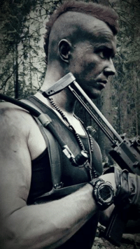 You may be badass, but you will never be as badass as a Finnish soldier wielding an awesome red Mohawk and an MP7.: YYvrewe You may be badass, but you will never be as badass as a Finnish soldier wielding an awesome red Mohawk and an MP7.