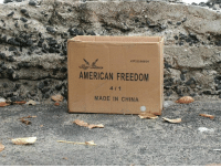 Dank, Finals, and China: 43 223/050/04  AMERICAN FREEDOM  MADE IN CHINA The truth has finally been revealed.