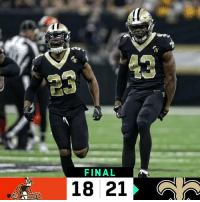 Memes, New Orleans Saints, and Wild: 43  23  FINAL  18 21 FINAL: @Saints pull out a WILD win! #GoSaints #CLEvsIND https://t.co/iXneu5V5Tx